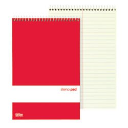 office-depot-steno-books-6in-x-9in-gregg-ruled-70-sheets-greentint-pack-of-12-99470