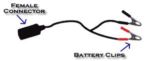 Upstart 167340001 Motorcycle battery jumper cables. Booster cables. Jump car-to-bike or bike-to-bike. Fuse Protected. Safe. Patented.