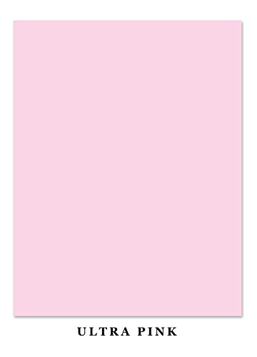 Ultra Pink Bright Color Card Stock Paper, 65lb. 8.5 X 11 Inches (Pack of 50) ()
