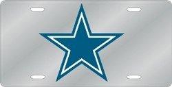 (Dallas Cowboys Laser Cut Silver License Plate)