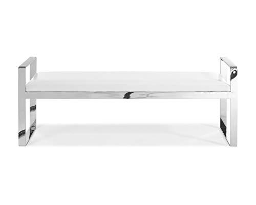 (Whiteline Modern Living BN1372P-WHT Contemporary Modern Sorrento Entryway Bench/Ottoman White)