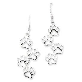 Dog Paw Print Earrings - Sterling Silver zwRBlPs