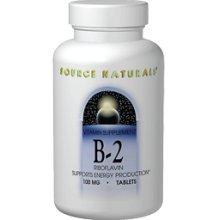 Source Naturals Vitamin B-2 100 mg, 100 comprimés (lot de 2)