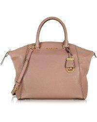 Michael Kors Women's Riley Large Satchel Bag Dusty - Bag Rose Mk Gold