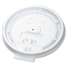 Hot Cup Tear-Tab Lids, 10-20oz, White