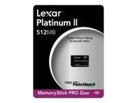 Lexar MSDP512-40-664 512 MB Platinum II Memory Stick Pro Duo (Retail Package) (Drive Lexar 512mb Usb)
