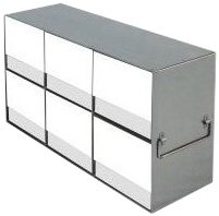 Alkali Scientific UFLB-32 Stainless Steel Cryostorage Box Rack for 15ml and 50ml Tube Boxes, 18-1/4