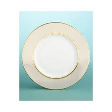 - Wedgwood Martha Stuart Ribbon Stripe Gold Bread and Butter Plate