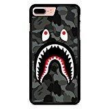 Bape Shark Black Army iPhone 7 Plus Case Black