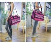 Color : Pink Stripes, Size : 19.21012.4 inch. Gym Bag Kaiyitong Sports Bag Independent Shoe Warehouse Female Large-Capacity Travel Bag Large Size: 48 25 31cm Waterproof Swimming Bag