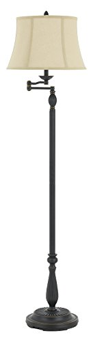 150W 3 Way Barnwell Metal/Resin Swing Arm Floor Lamp