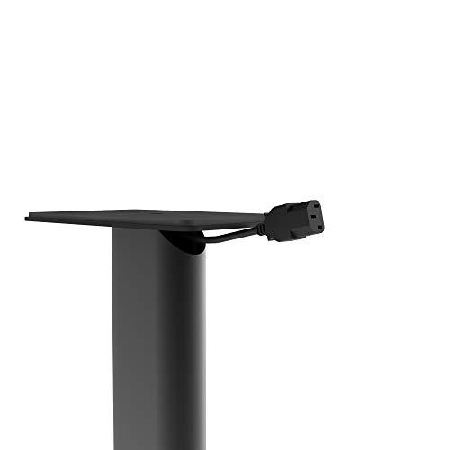 Kanto SP26PL 26 Soporte de suelo para altavoces | Diseñado para altavoces de estantería medianos a grandes | Acolchado de espuma y acero pesado | Placa superior giratoria de 30 ° | Diseño de cable oculto | Negro | Par
