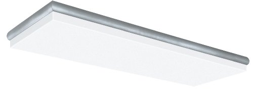 Lighting by AFX CN232R8 Decorative Cloud 2-32 Watt T8 Light Fixture, Nickel Trim Finish with White Acrylic Diffuser