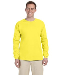 - Fruit of the Loom Adult Heavy Cotton HD Long-Sleeve T-Shirt (Yellow) (Medium)