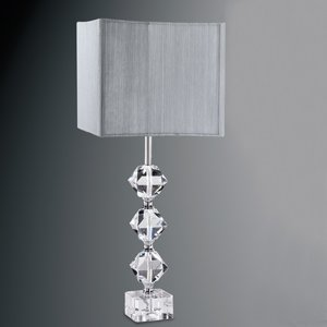 Cut crystal base table lamp complete with silver string square shade cut crystal base table lamp complete with silver string square shade mozeypictures Gallery