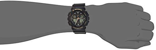 Casio Men's G-Shock XL Series Japanese Quartz Watch with Silicone Strap, Black, 28 (Model: GA-100GBX-1A9) 3