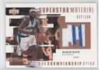 Baron Davis #37/100 (Basketball Card) 2002-03 Upper Deck Championship Drive - Superstar Material Jersey #BD-M