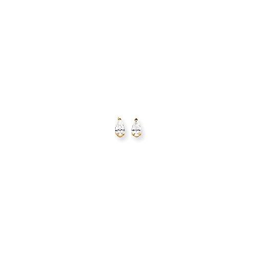 14k 5x3 Pear Earring Mountings