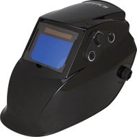 Klutch Large View Auto-Darkening Variable-Shade Welding Helmet - 800 Series, Gloss Black Finish
