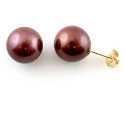 Brown Cultured Earring (Akoya Cultured Brown 7-7.5 mm Pearl Earrings)