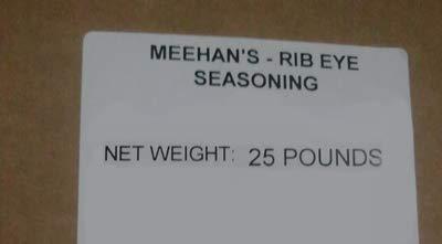 Meehan's Rib Eye Seasoning, 25 Pound Bulk