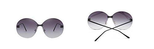 rond inspirées polarisées Lennon du retro soleil en métallique vintage style cercle lunettes Gris de Gradient FwqATT