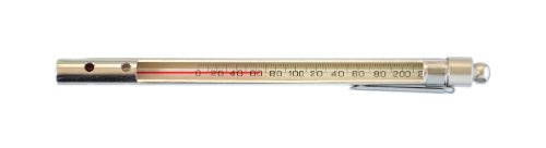 Thermco BM2012PS Red Spirit Filled Pocket Test Thermometer with Enclosed Aluminum Case, 30 to 120°F Range, 1.0°F Division, Total Immersion by THERMCO