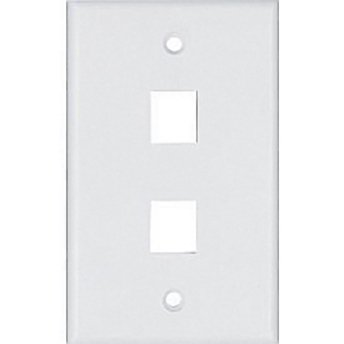 Cooper Wiring Devices, 5520W-MSP 2 Port Flush Modular Wallplate, White by Cooper Wiring - Wall Plate Modular Cooper