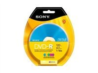 Sony 10DMR47RBX4 DVD-R DVD Recordable Media - 10-Pack