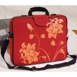 "15.6"" Laptop Sleeve in with Handle & Strap in Red Blossom"