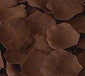 Chocolate Brown Silk Rose Petals - bag of 200 petals