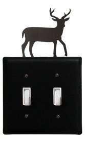 (ESS-3 Deer Double Switch Electric Cover )