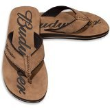 Budweiser Mens Thong Sandal (7-8) Brown