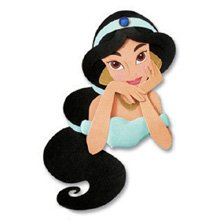 JOLEES Disney Princess Portrait Stickers, Jasmine ()