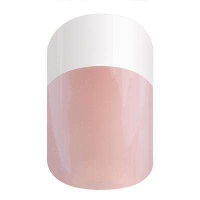 Jamberry White & Pink Tint Tip Mid Half Sheet Nail Wraps by Jamberry