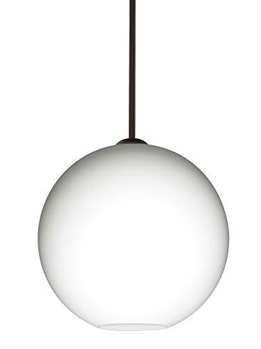 Besa Lighting 1TT-COCO1407-BR Coco 14 - One Light Stem Pendant, Bronze Finish with Opal Matte Glass ()
