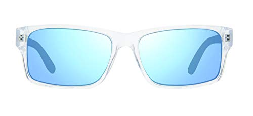 Revo Polarized Sunglasses Finley Rectangle Frame 57 mm, Crystal Frame, Blue Water