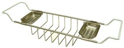 Kingston Brass CC2158 Vintage Clawfoot Bath Tub Shelf, Satin Nickel (Satin Light Brass Bath)