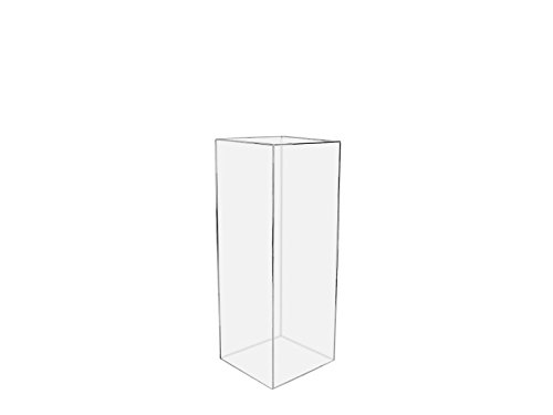 "Marketing Holders 12""w x 12""d x 42""h Acrylic Lucite Display Cube Pedestal Art Sculpture Stand Showcase Clear"