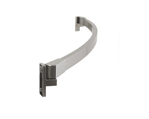 Preferred Bath Accessories 112-5BN Curved Shower Rod, 5-Feet, Brushed Nickel (Curved Bath Bar)