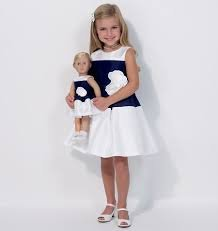 Buy matching girl and doll dress patterns - 3