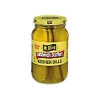 Mt Olive Kosher Dill Sandwich Stuffers 16oz 3pack