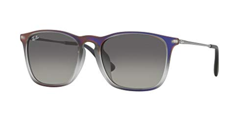 - Ray-Ban Men's RB4187F Chris (F) Sunglasses Violet Shot On Black / Grey Gradient Dark Grey 54mm