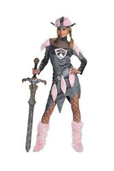 Disguise Unisex Adult Barbarian Babe, Grey/Pink, Large (12-14) -
