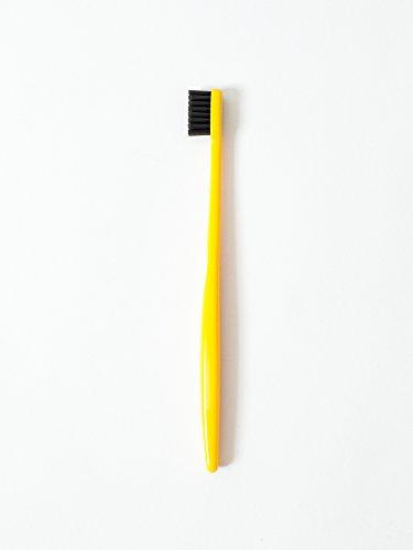 Morihata Binchotan Activated Charcoal Toothbrush, Standard Bristles - Yellow