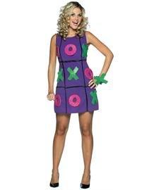 Rasta Imposta Tic Tac Toe Dress, Purple, Adult 4-10