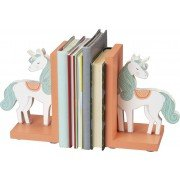 - Primitives By Kathy Unicorn bookends | Pink and White with Glitter Highlights
