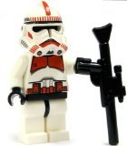 LEGO Star Wars LOOSE Mini Figure EPIII Clone Shock Trooper with Blaster Rifle [Red Markings] (Clone Trooper Shock)