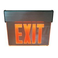Aluminum LED EXIT Sign, Red Lettering with Battery Backup - Distributed by NAC Wire and Cables (Lettering Battery Backup)