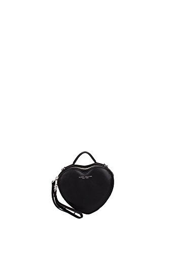 Marc Jacobs Heart Cross Body, Black, One Size ()